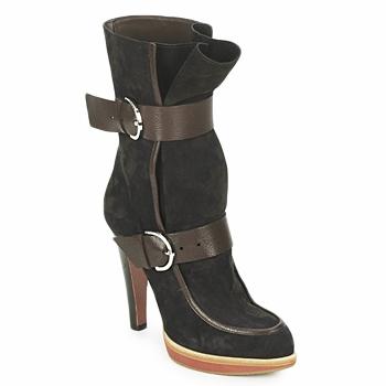 Chaussures Femme Bottines Michel Perry WILD MADRAS-BROWN