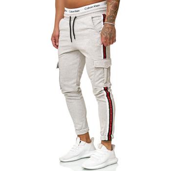 Vêtements Homme Pantalons de survêtement Cabin Jogging treillis avec bandes Jogging 1224 gris clair Gris