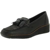 Chaussures Femme Mocassins Rieker 537b6 noir