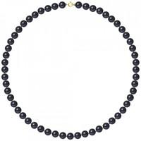 Montres & Bijoux Femme Colliers / Sautoirs Blue Pearls Collier ras du cou Femme Perles de culture d'eau douce Noires AA Multicolore
