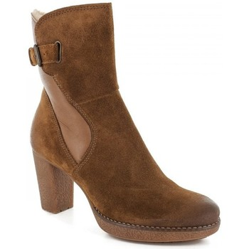 Chaussures Femme Bottines Manas Bottines- Marron