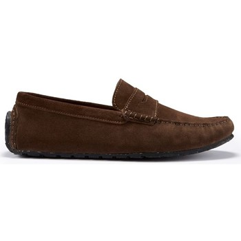 Chaussures Homme Mocassins Hugs & Co. Mocassins Pneu Penny Daim Marron