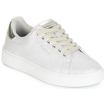 Chaussures Fille Baskets basses Kappa SAN REMO KID Blanc / Argenté