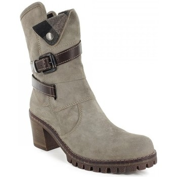 Chaussures Femme Bottines Manas Bottines- Gris