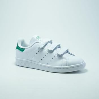 Chaussures Baskets mode adidas Originals STAN SMITH VELCRO BLANC/VERT Vert
