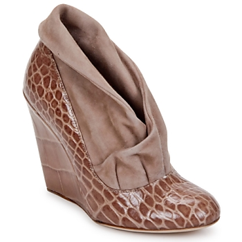 Chaussures Femme Low boots Jerome C. Rousseau SAVOYE CROC TAUPE