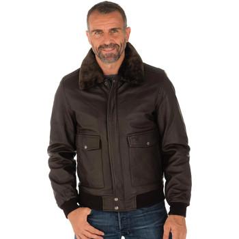 Vêtements Homme Blousons Schott LCTOPGUN BROWN Marron