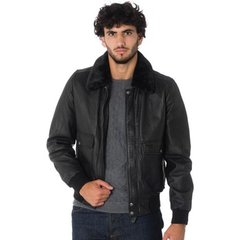 Vêtements Homme Blousons Schott LCTOPGUN BLACK Noir