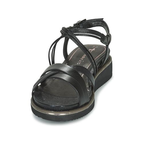 Tamaris Eda Noir Femme Et Nu Sandales pieds JclTuFK13