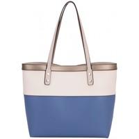 Sacs Femme Cabas / Sacs shopping David Jones Grand Sac Shopping Cabas avec Pochette 2 en 1 Bleu