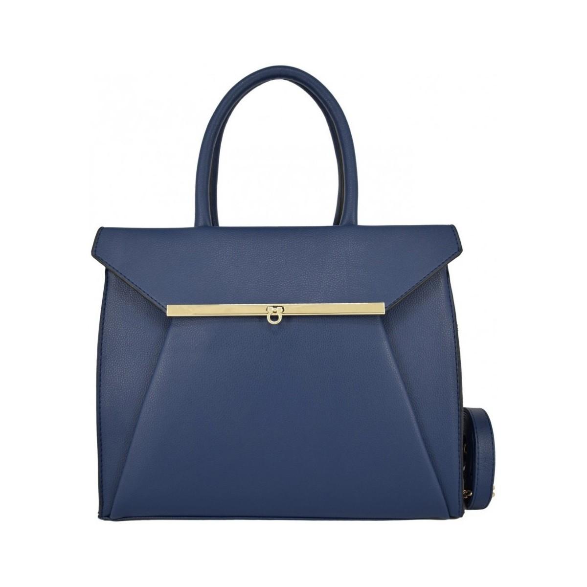 fb63d800f3 Crazychic Sac à Main Cabas Fourre-Tout à Tourniquet bleu - Sacs Sacs porté main  Femme 36,99 €