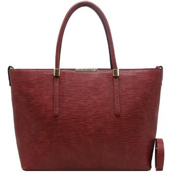 Sacs Femme Cabas / Sacs shopping Crazychic Grand Sac à Main Cabas Cuir Epi Rouge