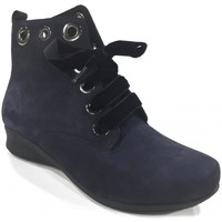 Chaussures Femme Bottines Hirica Boots lacets Marine ROBBIE bleu