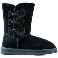 Chaussures Enfant Boots Oca Loca Bottes Oca Loca Pompon NOIR