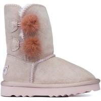 Chaussures Enfant Boots Oca Loca Bottes Oca Loca Pompon Rose ROSE