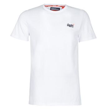Vêtements Homme T-shirts manches courtes Superdry ORANGE LABEL VINTAGE EMB TEE Blanc