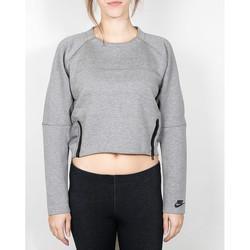Vêtements Femme Pulls Nike Nike Wmns Tech Fleece Aeroloft Crew - Carbon Heather / Black 534