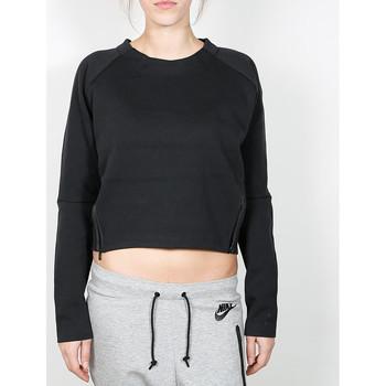 Vêtements Femme Pulls Nike Nike Wmns Tech Fleece Aeroloft Crew - Black / Black 38