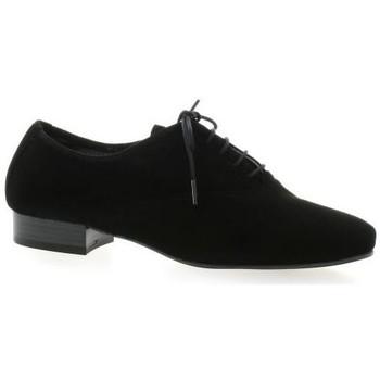 Chaussures Femme Derbies Pao Derby cuir velours Noir