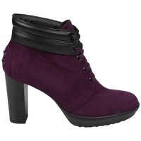 Chaussures Femme Bottines Tod's Boots Talon Caracas Bordeaux Multicolor