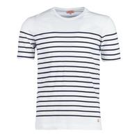 Vêtements Homme T-shirts manches courtes Armor Lux YAYALOUT Blanc / Marine