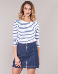 Vêtements Femme T-shirts manches longues Armor Lux YAYAROULE Blanc / Bleu
