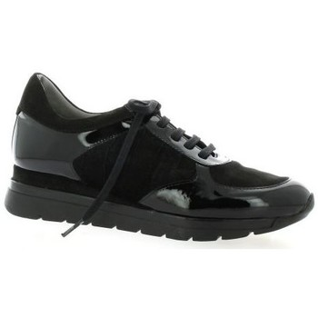 Chaussures Femme Baskets basses Pao Baskets cuir velours Noir