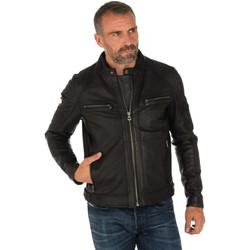 Vêtements Homme Vestes en cuir / synthétiques Daytona 73 COLLINS LAMB PAOLO BLACK Noir