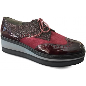 Chaussures Femme Derbies Folies Derby Plat Bordeaux BONZAI FOLIE'S rouge