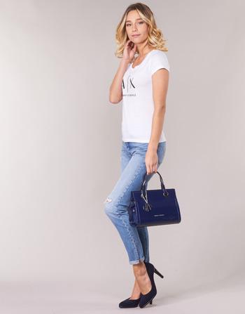 Femme Blanc Armani Heliak T Courtes Vêtements shirts Exchange Manches N0m8wn