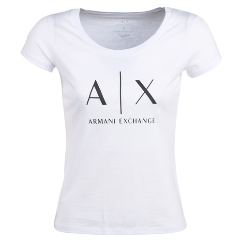Vêtements Femme T-shirts manches courtes Armani Exchange HELIAK Blanc
