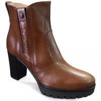 Chaussures Femme Bottines Nero Giardini MP Boots talon Camel Beige