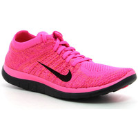 Chaussures Femme Running / trail Nike Wmns Free 4.0 Flyknit Hyper cocktail/Cramoisi brillant/Rose atomique/Noir