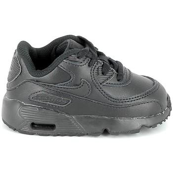 Chaussures Enfant Baskets basses Nike Air Max 90 Cuir BB Noir 833416 001 Noir