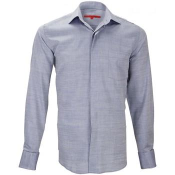 Vêtements Homme Chemises manches longues Andrew Mc Allister chemise mousquetaire leister bleu Bleu