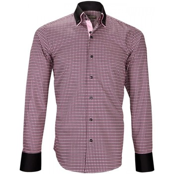 Vêtements Homme Chemises manches longues Emporio Balzani chemise double col doppio bordeaux Bordeaux
