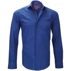 Vêtements Homme Chemises manches longues Andrew Mc Allister chemisette mode italian bleu Bleu