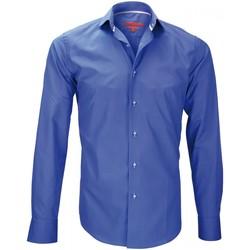 Vêtements Homme Chemises manches longues Andrew Mc Allister chemise mode italian bleu Bleu