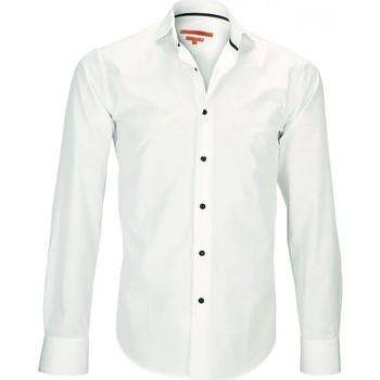 Vêtements Homme Chemises manches longues Andrew Mc Allister chemise col italien harry beige Beige