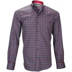 Vêtements Homme Chemises manches longues Emporio Balzani chemise sport rialto gris Gris