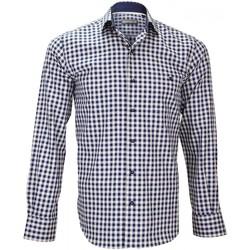 Vêtements Homme Chemises manches longues Emporio Balzani chemise sport rialto bleu Bleu