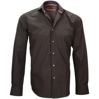 Vêtements Homme Chemises manches longues Andrew Mc Allister chemise en popeline blake noir Noir