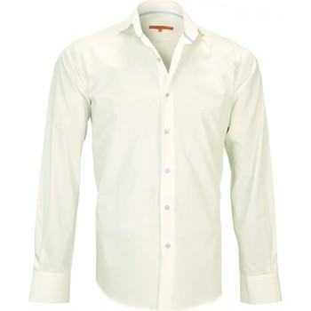 Vêtements Homme Chemises manches longues Andrew Mc Allister chemise en popeline blake beige Beige