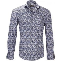 Vêtements Homme Chemises manches longues Emporio Balzani chemise imprimee lecce bleu Bleu