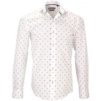 Vêtements Homme Chemises manches longues Emporio Balzani chemise tissu armuree lecce blanc Blanc