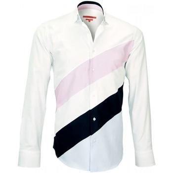 Vêtements Homme Chemises manches longues Andrew Mc Allister chemise mode third blanc Blanc