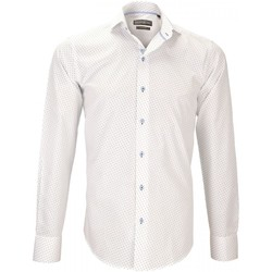 Vêtements Homme Chemises manches longues Emporio Balzani chemise imprimee fiori blanc Blanc