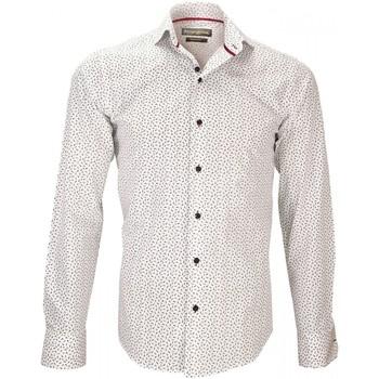 Vêtements Homme Chemises manches longues Emporio Balzani chemise liberty fiori blanc Blanc