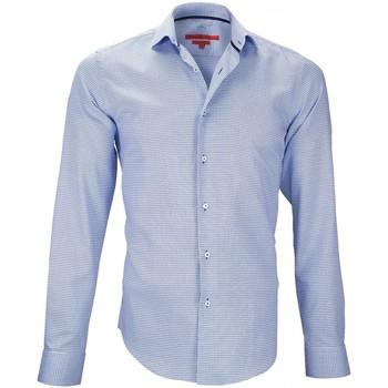 Vêtements Homme Chemises manches longues Andrew Mc Allister chemise petit col streeter bleu Bleu