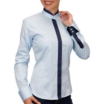 Vêtements Femme Chemises / Chemisiers Andrew Mc Allister chemise col mao doraleen bleu Bleu